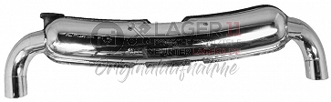 Sportendtopf Edelstahl poliert 85mm Doppelendrohr für Porsche 911 75 - 89