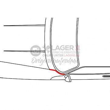 Kotflügelkeder für Porsche 911 65-85 schmal