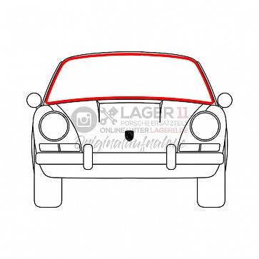 Frontscheibengummidichtung für Porsche 911 65 - 89