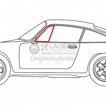 Dreieckscheibengummi Türe links Drehfenster Coupe links für Porsche 911 65 - 68