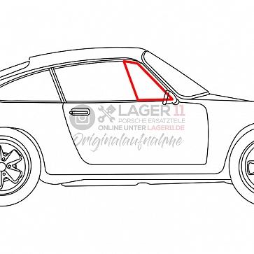 Dreieckscheibengummi Türe rechts Drehfenster Coupe für Porsche 911 frühes F Modell 65 - 68