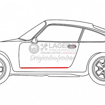Einstiegsschwellergummi Porsche links für Porsche 911 69-89