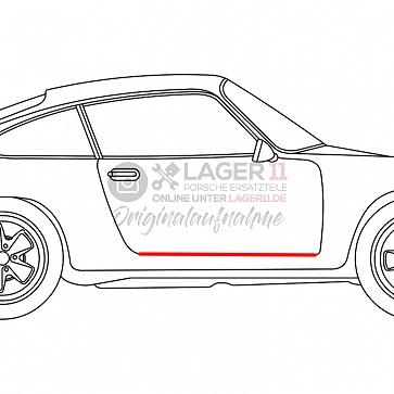 Einstiegsschwellergummi Porsche rechts für Porsche 911 69-89