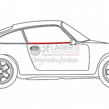 Abdichtleiste Seitenscheibe Türe außen rechts für Porsche 911 / 964 Coupe 65 - 93
