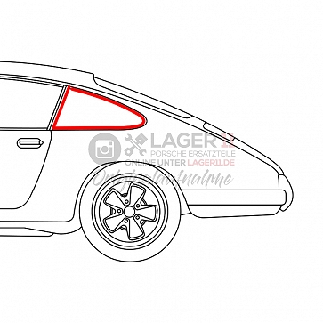Seitenscheibengummi für Ausstellfenster an Karosserie links für Porsche 911 65-77