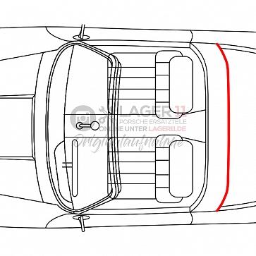 Dicht - Keder vom Targabügel zur Scheibe hinten für Porsche 911 67 - 89