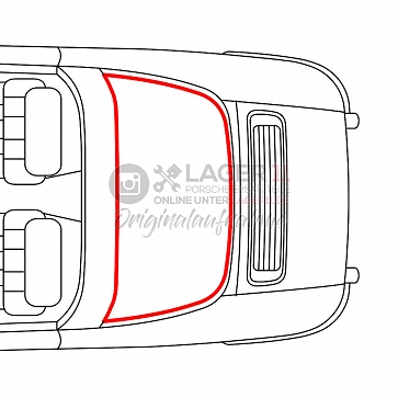 Heckscheibengummidichtung Targa für Porsche 911 69-89