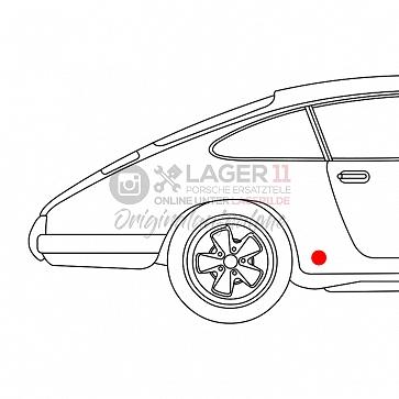 Dichtung Drehstabdeckel links u. rechts für Porsche 911 65-86