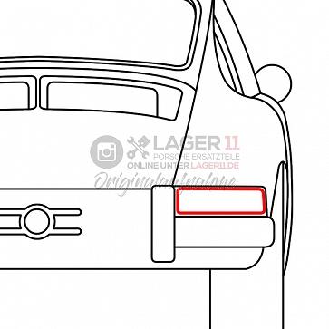 Dichtung Heckleuchtengehäuse hinten rechts für Porsche 911 69-89