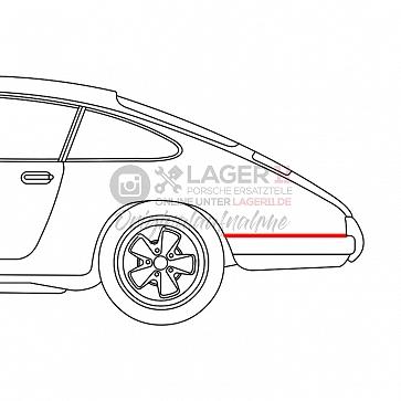 Abdichtung Seitenteil Stoßstange hinten für Porsche 911 65-68