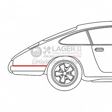 Abdichtung Seitenteil Stoßstange rechts für Porsche 911 69 - 73