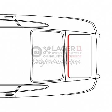 Motorraumdichtung für Porsche 911 65-89 hinter dem Motor klein