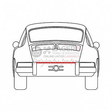 Heckabschlußgummi für Porsche 911 65-73