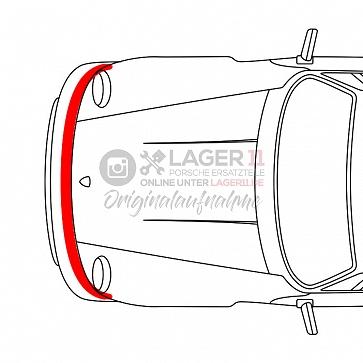 Haubenaufschlaggummi vorne für Porsche 911 74-89