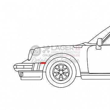 Keder für Porsche 911 SC / Carrera Kotflügel zum Anschlussblech oben 74-89