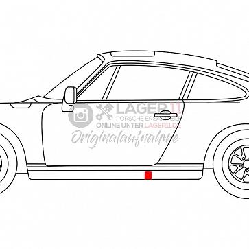 Blende für Wagenheberaufnahme für Porsche 911 74 - 89