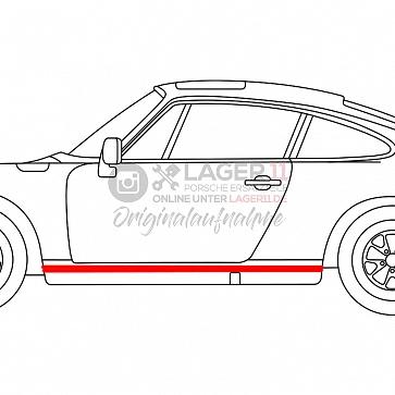 Schwellergummi an Schwellerblende links und rechts für Porsche 911 74-89