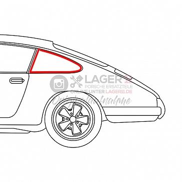 Seitenscheibengummi für Seitenscheibe hinten links fest für Porsche 911 77-89