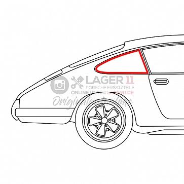Seitenscheibengummi für Seitenscheibe hinten rechts fest für Porsche 911 77-89