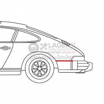 Keder für Porsche 911 SC / Carrera Seitenteil hinten links 77-89