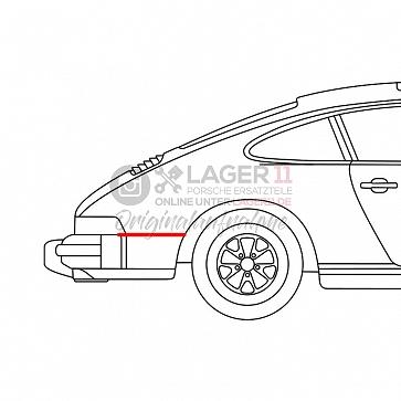 Keder für Porsche 911 SC / Carrera Seitenteil hinten rechts 77-89