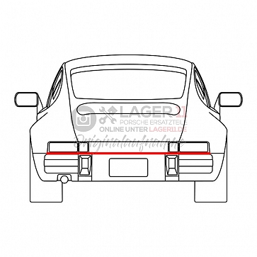 Dichtung zwischen Stoßstange und Karosserie hinten für Porsche 911 74-89