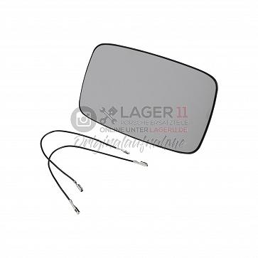 Aussenspiegelglas für elektrisch, beheizte Spiegel links und rechts gleich für Porsche 911 77 - 87