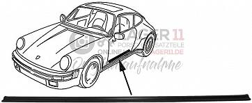 Einstiegsschwellerleiste schwarz für Porsche 911 74-89