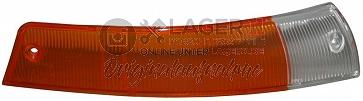 Blinkerglas vorne rechts orange/weiß Europa für Porsche 911 Bj. 65-68