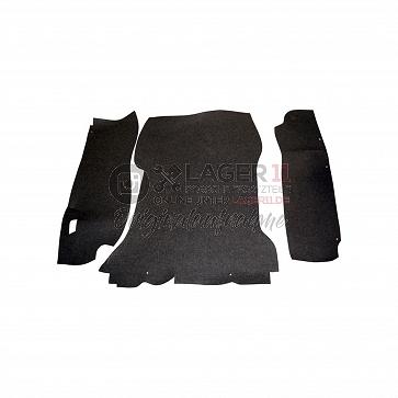 Kofferraumteppichsatz schwarz Filz für Porsche 911 68 - 73