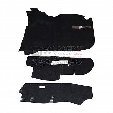 Kofferraumteppichsatz schwarz Filz für Porsche 911 76 - 86