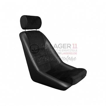 Sitz Nürburgring GTR10 Kunstleder / Cord schwarz für Porsche 911 65 - 89