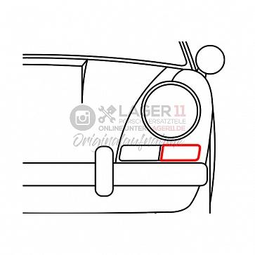 Dichtung Blinkergehäuse vorne links für Porsche 911 swb 65-68