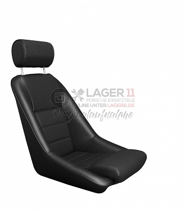 Sitz Nürburgring GTR12 Kunstleder / Kunstleder genoppt schwarz für Porsche 911 65 - 89