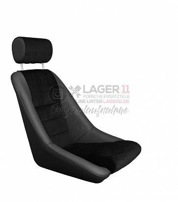 Sitz Nürburgring GTR14 Leder / Cord schwarz für Porsche 911 65 - 89
