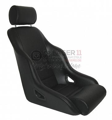 Sitz Rally ST GTR72 Kunstleder / genoppt schwarz für Porsche 911 65 - 89