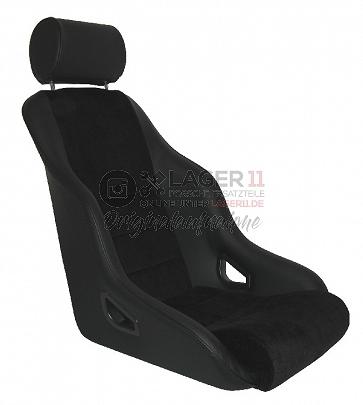Sitz Rally ST GTR74 Leder / Cord schwarz für Porsche 911 65 - 89