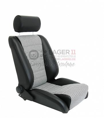 Sitz Recaro-S Replica GTR81/5 Leder / Pepita für Porsche 911 65 - 89