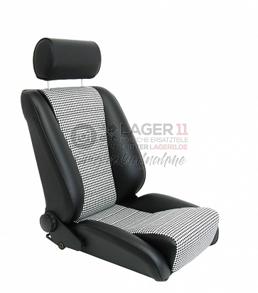 Sitz Recaro-S Replica GTR85 Kunstleder / Pepita für Porsche 911 65 - 89
