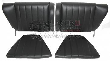 Rücksitze Kunstleder schwarz Repro für Porsche 911 65 bis 71