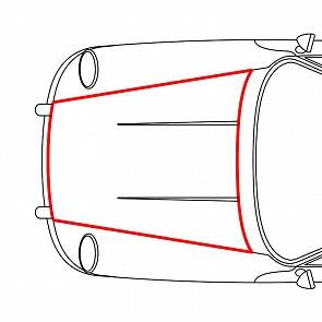 Kofferraumgummidichtung / Haubengummidichtung für Porsche 911 65 - 73