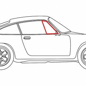 Dreieckscheibengummi Türe rechts fest Coupe für Porsche 911 / 964 69-93