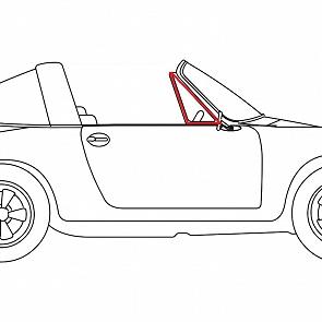 Dreieckscheibengummi Türe rechts für Porsche 911 Targa 66-76