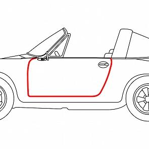 Türgummi Cabrio / Targa links und rechts gleich für Porsche 911 / 964 65 - 93