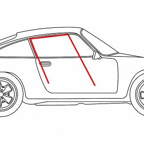 Fensterführung Filz - Rinne Coupe für Porsche 911 / 964 65 - 93 (Default)
