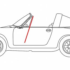 Fensterführung Filz - Rinne Cabrio / Targa für Porsche 911 / 964 65 - 93