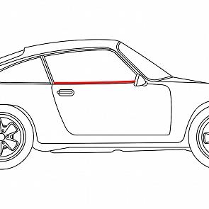 Türschachtdichtung Innen U-Profil links und rechts gleich für Porsche 911 / 964 65 -93