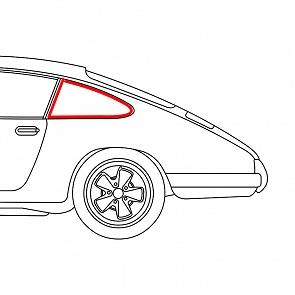 Keder-Gummi zwischen Heckschürze /& Stossstange hinten Porsche 911 74-89,