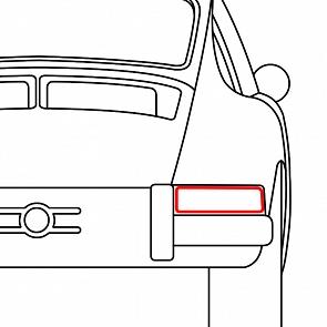 Dichtung Heckleuchtengehäuse hinten rechts für Porsche 911 65-68