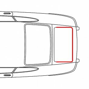 Motorraumdichtung für Porsche 911 65-89 vor dem Motor gross
